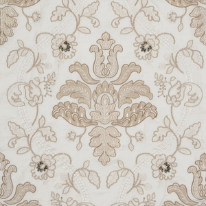 SCALAMADRE ISABELLA EMBROIDERY FABRIC CHAMPAGNE