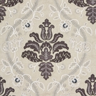 SCALAMADRE ISABELLA EMBROIDERY FABRIC GRAPHITE