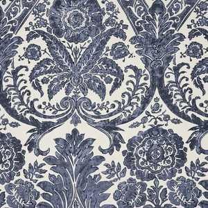 SCALAMADRE LUCIANA DAMASK PRINT FABRIC DENIM