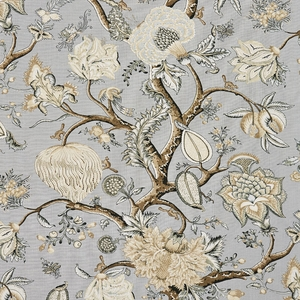 SCALAMADRE PONDICHERRY LINEN PRINT FABRIC MINERAL