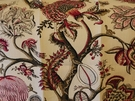 SCALAMADRE PONDICHERRY LINEN PRINT FABRIC RASPBERRY