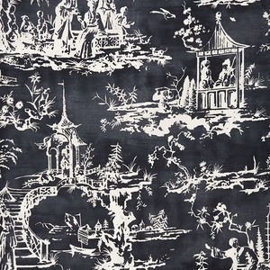 SCALAMADRE SUMMER PALACE FABRIC CHARCOAL