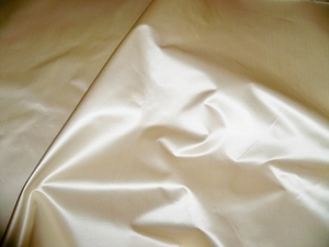 SCALAMANDRE ACADEMY SILK SATIN COTTON FABRIC IVORY 30 YARD BOLT