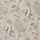 SCALAMANDRE ADARA EMBROIDERED FABRIC FLAX