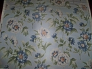 SCALAMANDRE ANEMONE FLORAL WARP PRINTED SILK FABRIC 10 YARDS BLUE MULTI