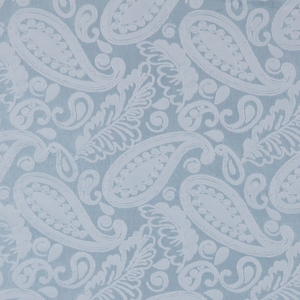 SCALAMANDRE ANGELIQUE PAISLEY SILK FABRIC BLUE - 5 YARD MINIMUM