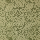 SCALAMANDRE ANGELIQUE PAISLEY SILK FABRIC GREEN - 5 YARD MINIMUM