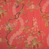 SCALAMANDRE APRILE SILK LAMPAS, COLONY COLLECTION RED