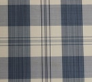 SCALAMANDRE ASTOR SILK CHECK PLAID FABRIC INDIGO