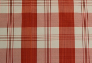 SCALAMANDRE ASTOR SILK CHECK PLAID FABRIC RED