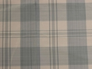 SCALAMANDRE ASTOR SILK CHECK PLAID FABRIC SKY