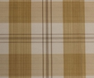 SCALAMANDRE ASTOR SILK CHECK PLAID FABRIC STRAW