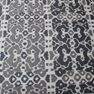 SCALAMANDRE BALI CHINOISERIE LAMPAS FABRIC TAUPE & CHARCOAL