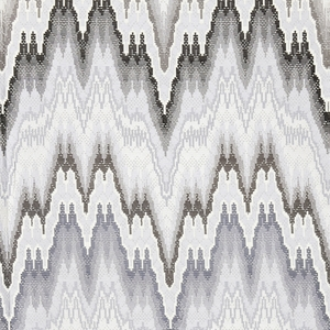 SCALAMANDRE BARGELLO JACQUARD COTTON FABRIC GRAPHITE