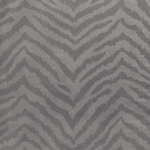 SCALAMANDRE BENGALI TIGER LINEN SILK FABRIC PEWTER