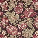 SCALAMANDRE CANTERBURY LINEN PRINT FABRIC MULBERRY