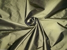 SCALAMANDRE CARIBBEAN SILK TAFFETA FABRIC 30 YARD BOLT OLIVE GREEN