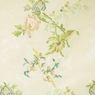 SCALAMANDRE CERASELLA SILK LAMPAS FABRIC CREAM