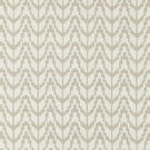SCALAMANDRE CHEVRON EMBROIDERY FABRIC FLAX