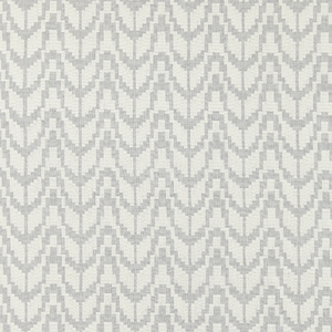 SCALAMANDRE CHEVRON EMBROIDERY FABRIC PEARL