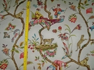 "SCALAMANDRE ""CHINOISE EXOTIQUE"" CHINOISERIE TOILE FABRIC IN ECRU"