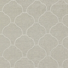 SCALAMANDRE COQUILLE SHEER EMBROIDERED FABRIC FLAX