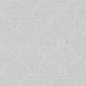 SCALAMANDRE COQUILLE SHEER EMBROIDERED FABRIC IVORY