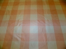 SCALAMANDRE CORNWALL PLAID SILK TAFFETA FABRIC PINK WHITE