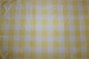 SCALAMANDRE CORNWALL PLAID SILK TAFFETA FABRIC YELLOW CREAM