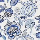 SCALAMANDRE COROMANDEL EMBROIDERY FABRIC PORCELAIN