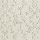 SCALAMANDRE DAMASCUS EMBROIDERY COTTON FABRIC ALABASTER