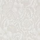 SCALAMANDRE DECO FLOWER LINEN JACQUARD FABRIC PEARL GREY