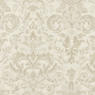 SCALAMANDRE ELIZABETH DAMASK EMBROIDERY FABRIC ALABASTER