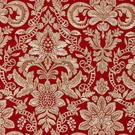 SCALAMANDRE ELIZABETH DAMASK EMBROIDERY FABRIC CARNELIAN