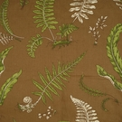 SCALAMANDRE ELSIE DE WOLFE INDOOR OUTDOOR FABRIC GREEN ON BROWN