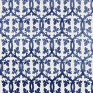 SCALAMANDRE FALK MANOR HOUSE FABRIC LAPIS