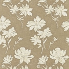 SCALAMANDRE FLORE BATIK COTTON FABRIC FLAX