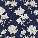 SCALAMANDRE FLORE BATIK COTTON FABRIC INDIGO