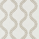 SCALAMANDRE FOGLIA EMBROIDERY FABRIC FRENCH GREY