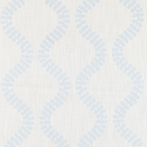 SCALAMANDRE FOGLIA EMBROIDERY FABRIC SKY