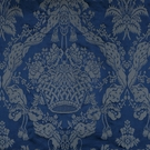 SCALAMANDRE GABRIEL SILK DAMASK FABRIC BLUE