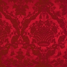 SCALAMANDRE GABRIEL SILK DAMASK FABRIC RUBY