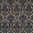 SCALAMANDRE GRAN CONDE CUT UNCUT VELVET SILK FABRIC BLUE