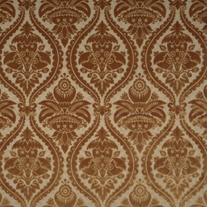 SCALAMANDRE GRAN CONDE CUT UNCUT VELVET SILK FABRIC GOLD