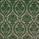 SCALAMANDRE GRAN CONDE CUT UNCUT VELVET SILK FABRIC GREEN