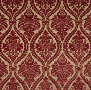 SCALAMANDRE GRAN CONDE CUT UNCUT VELVET SILK FABRIC RED