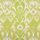 SCALAMANDRE GREYSTONE IKAT KILIM COTTON FABRIC LIME