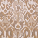 SCALAMANDRE GREYSTONE IKAT KILIM COTTON FABRIC NATURAL ON CREAM