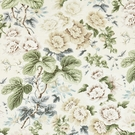 SCALAMANDRE HIGHGROVE LINEN PRINT FABRIC RICH CREAM