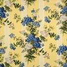 SCALAMANDRE HORTENSIA FABRIC MULTI ON LEMON WATER
